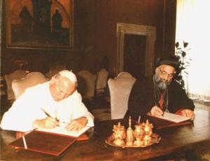 joão paulo II e inácio zakka i